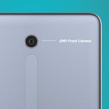enfoque de la imagen en la cámara de 5mp en la parte posterior de la tableta