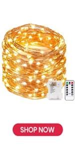 Kohree 2 x Guirlande LED Lumineuse avec t/él/écommande Timer batterie 8 modes Etanche 10m//33Ft 100 LEDs cuivre ext/érieur guirlande led interieur decorative pour chambre No/ël Mariage Chambre Soir/ée