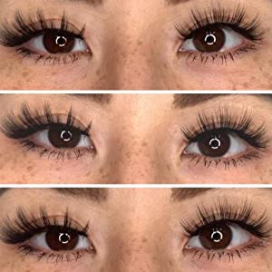 natural lashes with glue