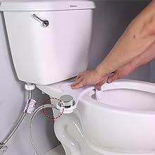 G1//2po Vintage en cuivre Si/èges de toilette /à main Vaporisateur de bidet avec tuyau /à base fixe Bidet de salle de bain en cuivre