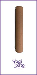 Yogibato Yoga Mat Kurk & Natuurlijk Rubber - anti-slip en niet giftig - mat voor gymnastiek Yoga