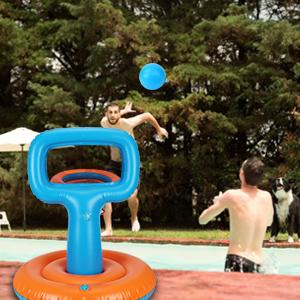 pool basketball hoop floating