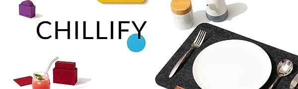 Assorbente Maojuee Set di 10 Sottobicchieri in Feltro con Ripiano Portaoggetti 10x10cm Lavabile Antiscivolo e Resistente al Calore Protezione per Tavolo Rotondo