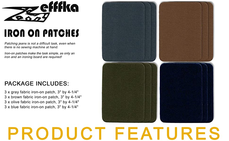 """ZEFFFKA Gray Brown Green Blue Package include 12 pcs, size 3"""" by 4-1/4"""""""