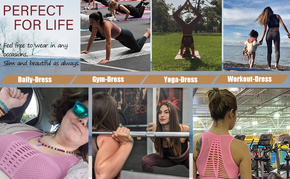 If you're looking for a versatile yoga bra, look no further. The sports bras is your key to comfort