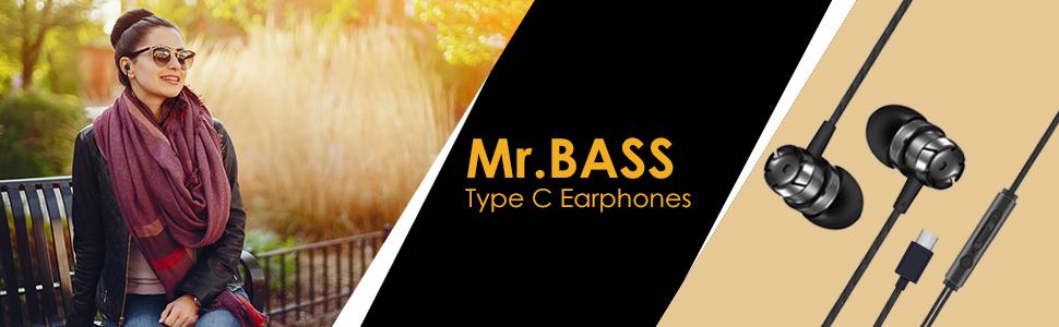 type c earphones, in-ear wired earphones, c type wired earphones, type c original earphones