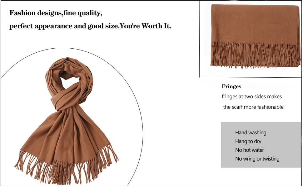 solid colors pashmina scarf