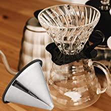 Vagabeans Pour Over Filter Fits Hario Coffee Maker