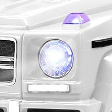 Bright Headlights and Warning Light