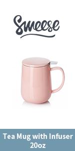 Big tea infuser-pink