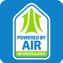 Powered By Air, no propellants, airopack, shark tank, safer, air, clean, recycle, recyclable, bottle