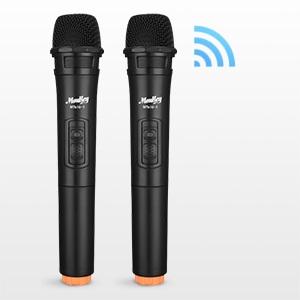 Microphone double VHF sans fil ( 2 * piles AA non inclus)