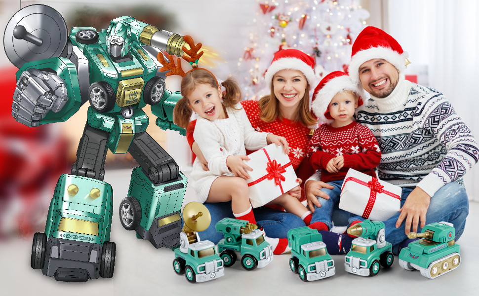 Take apart toy,tool toys,Construction Truck, Robot, Building Sets Toy for kids,STEM,5 IN 1,Light
