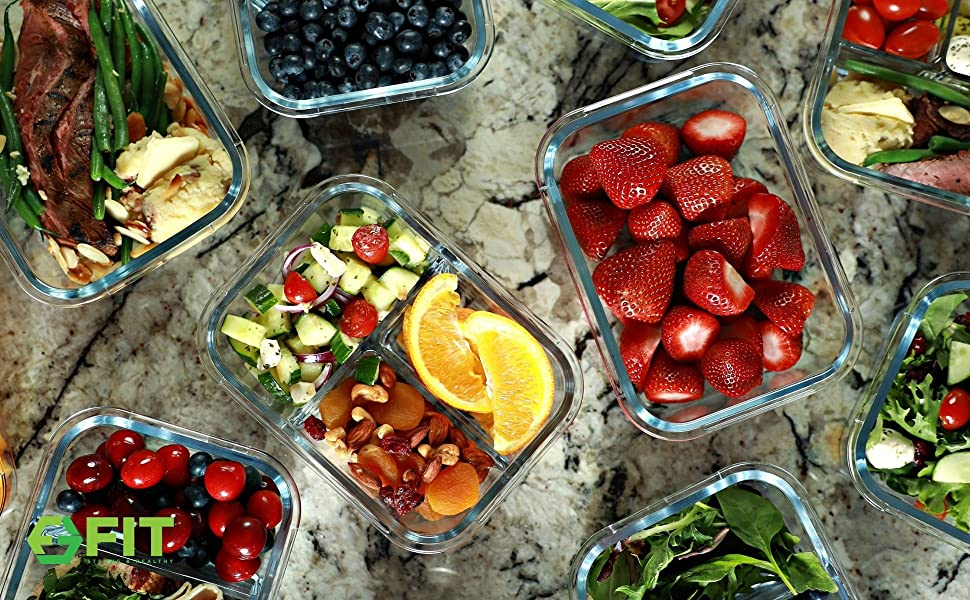 Glass Meal Prep Containers Food Containers Lunch Container Glass Bento Box Food Storage Containers