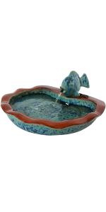 Sunnydaze Glazed Ceramic Fish Outdoor Fountain