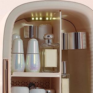 Cooluli Beauty 12L 12-liter portable mini fridge skincare beauty make-up led lighting interior