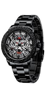 Reloj Grande Hombre Negro