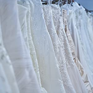 Hanger for wedding gown on wedding day