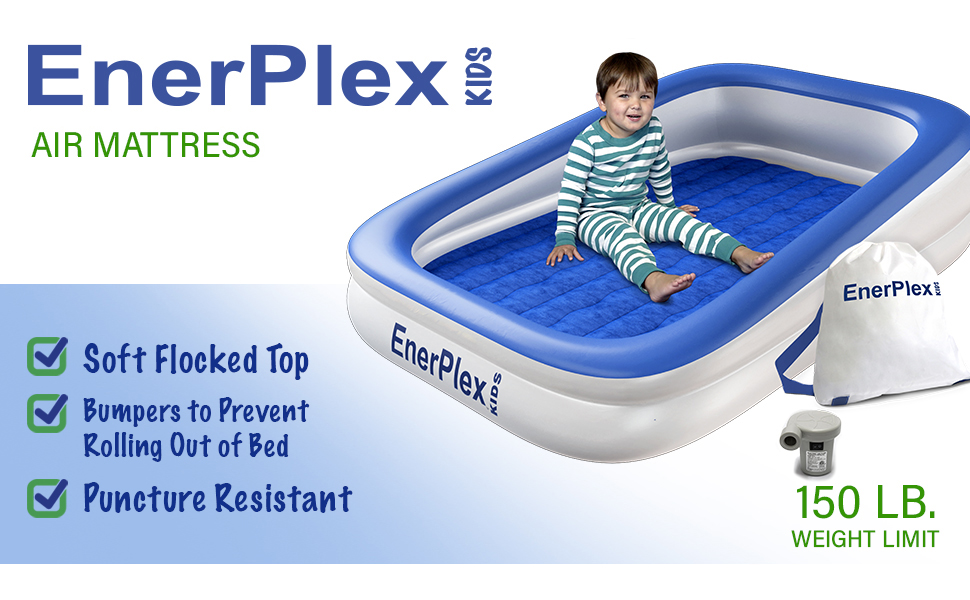 enerplex kids air mattress inflatable travel toddler airbed kids air bed portable kids bed