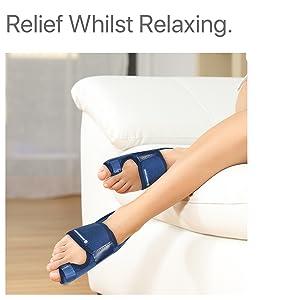 Soulagement tout en vous relaxant.