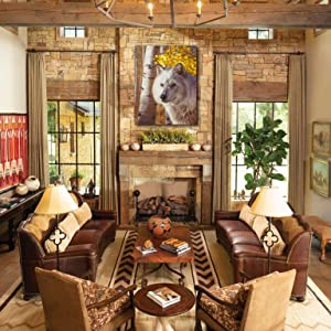 a crown of gold living room staging