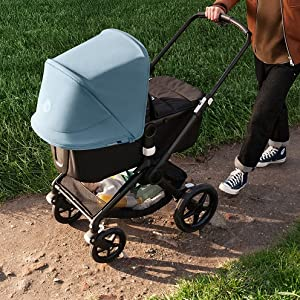Bugaboo Fox2//Lynx Sun Canopy Vapor Blue Also Compatible with Fox and Cameleon3 Extendable Sun Canopy with UPF Sun Protection and Peek-a-Boo Mesh Panel
