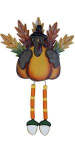 Thanksgiving Wooden Maple Leg Hanging Standing Tabletop Turkey Decor