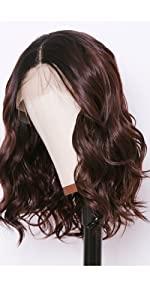 Dark root #33 wavy wig