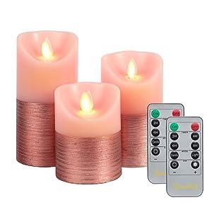 pink bedroom candles
