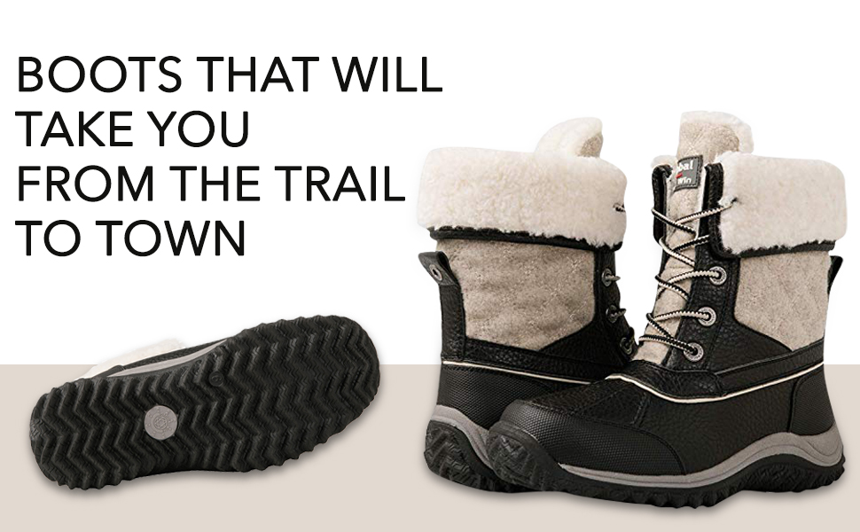 Snow boots that will make you excited for fall.