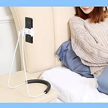 Upgrade Phone Holder for Bed, Neck Holder for Phone Gooseneck Lazy Mobile Phone Stand for Bed