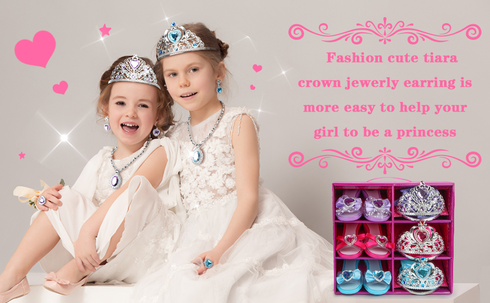 Gril princess dress up shoes set