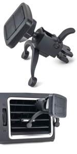 VentPro Magno Mount V3 - Soporte de coche para rejillas de ventilación con abrazaderas de ventilación e imán fuerte de Dockem