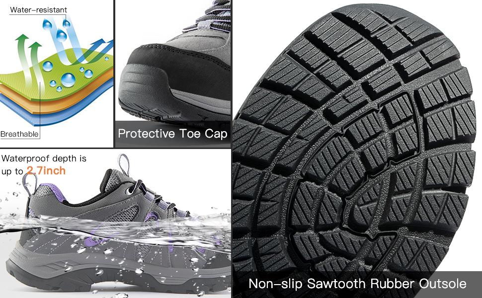 Wantdo Women's Waterproof Winter Hiking shoes