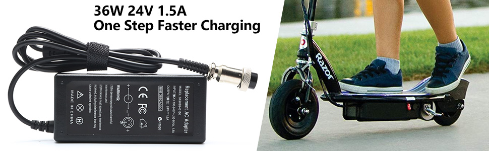 Razor Electric Scooter Battery Charger