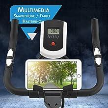 Speedbike inkl. Multimedia Halterung für Smartphone und Tablet