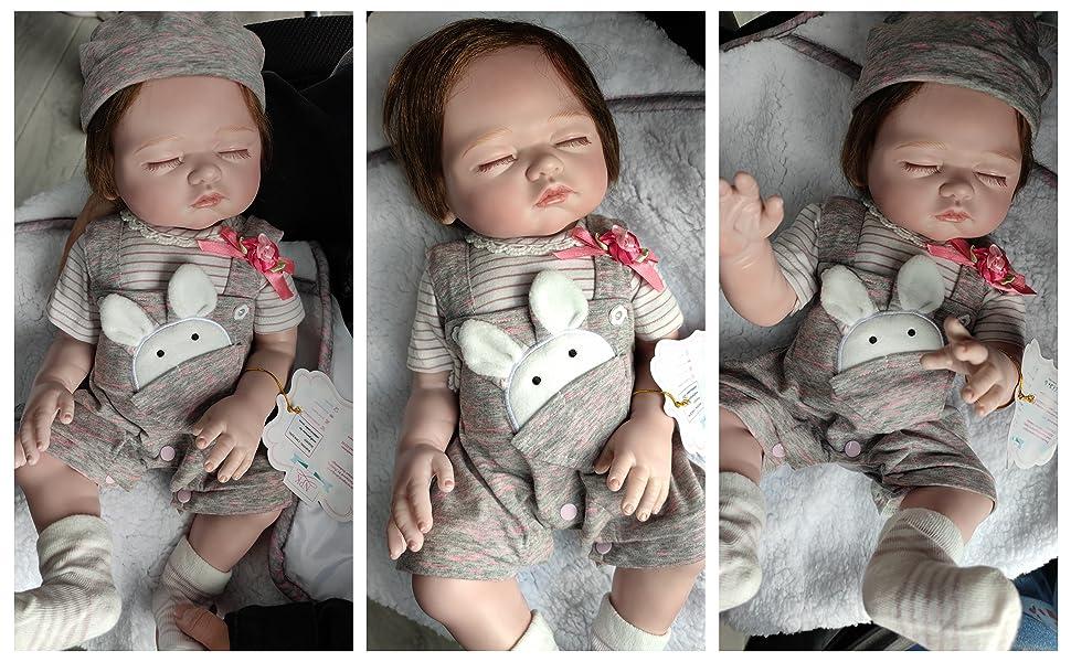 reborn baby dolls silicone full body girls lifelike newborn dolls