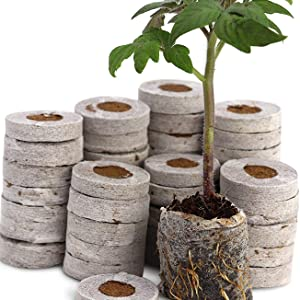 Netted Coins, coir seedling coins, coco pith, coco peat, coir pith, hydroponics, Coir garden