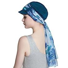 chiffon scarf cap