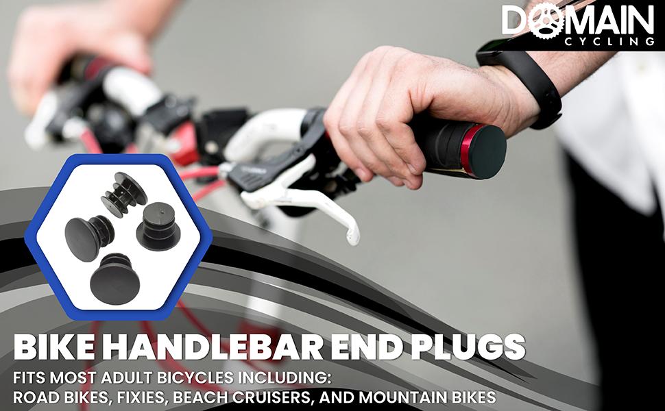 2x Bike Bar End Plugs Aluminum Road Bicycle Grip Anti-slip Firm Handlebar CapPVC