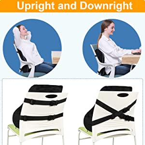 seat and back cushion for office chair works at home wheelchair cushion kicthen chair pillow