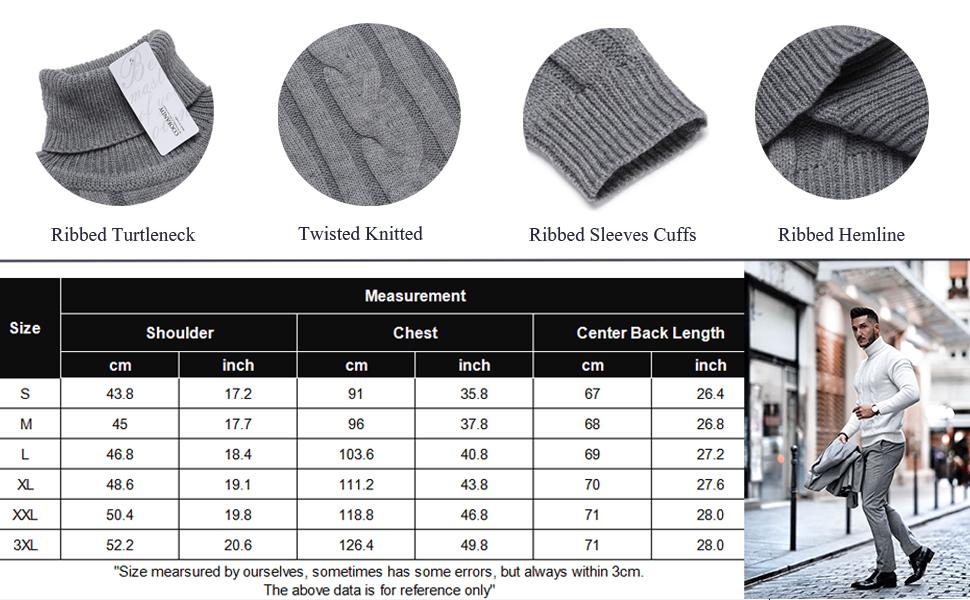 coofandy turtleneck men slim fit turtleneck cable knit sweater high neck knitted turtleneck