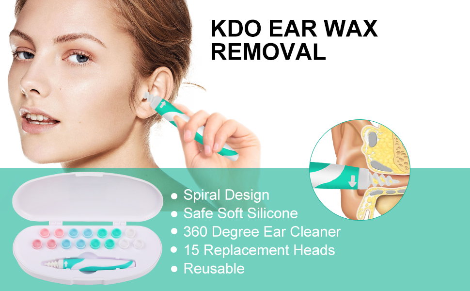 ear wax removal tool remover cleaner q-grips kit ear pick spiral ear cleaning kit pick kids adults