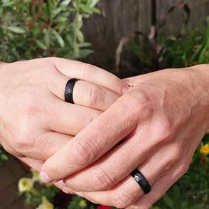 black mens ring