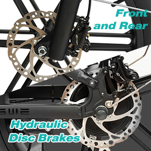 Front & Rear Hydraulic Disc Brakes