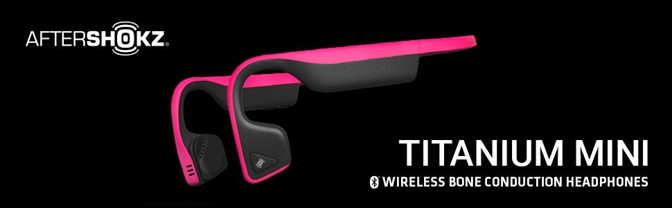 AfterShokz Titanium Mini wireless, open-ear, bone conduction headphones