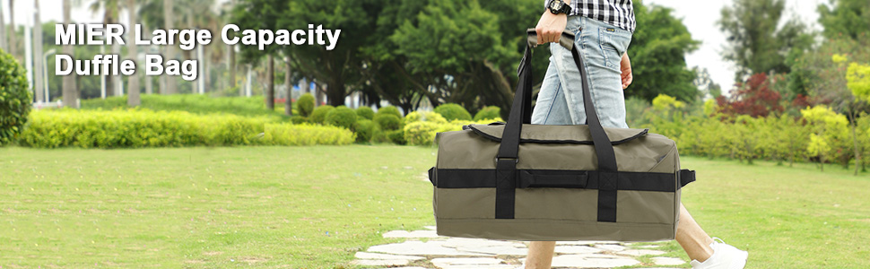 MIER 60L Water Resistant Backpack Duffle Heavy Duty Convertible Duffle Bag