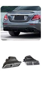 Benz W176 W204 W205 W212 W213 W222 W117 W218 C292 W166 W463 Real Carbon Exhaust Tail Muffler Tip