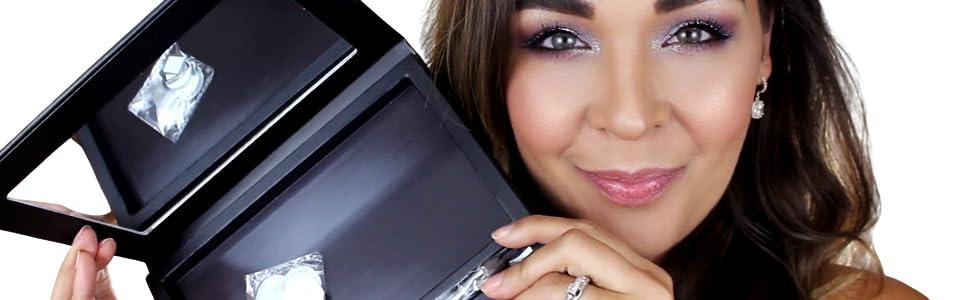 eyeshadow palette morphe mac makeup magnetic mirror blush make up palletes professional palettes