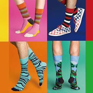 Colorful Patterned Crazy Novelty Dress Socks Pack